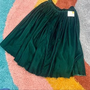VINTAGE NWT Velvet Skirt Holiday Green